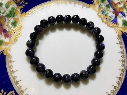 ヒマラヤブラックチャロアイト (ガネーシュヒマラヤ) 7.8mm珠ブレスレット