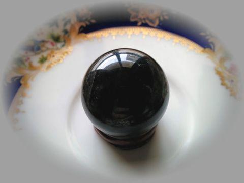 AAAckassモンゴル産黒水晶の45mm置き珠