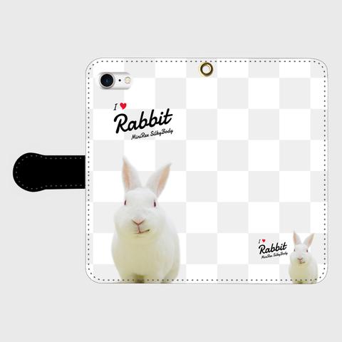 I Love Rabbit やとっしーVer iPhone手帳型ケース