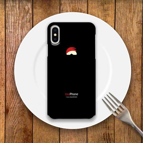 うさぎリンゴ iPhoneケース ブラック