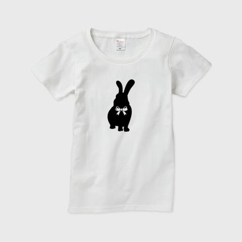 うさぎ女子 半袖Tシャツ レディース・メンズ ※文字なしモデル