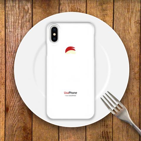 うさぎリンゴ iPhoneケース ホワイト