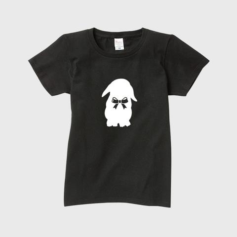 うさぎ女子@ロップイヤー 半袖Tシャツ レディース・メンズ ※文字なしモデル