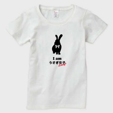 【即納可能】Iamうさぎ女子 半袖Tシャツ レディース