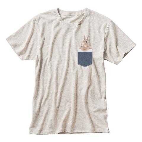 【即納可能】うさポケinうづら 半袖Tシャツ