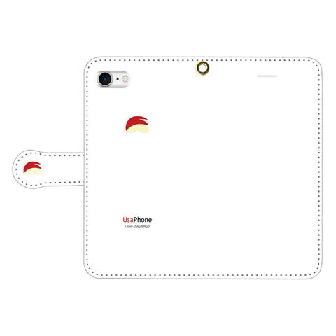 うさぎリンゴ iPhone手帳型ケース ホワイト