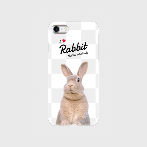 I Love Rabbit うづらVer iPhoneケース