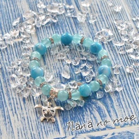 〜海の祝福〜天然石ブレスレット