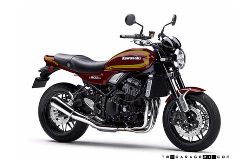 Z900RS ペイント D1レッド