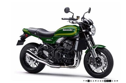 Z900RS ペイント D1グリーン