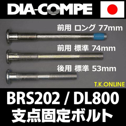 DIA-COMPE キャリパーブレーキ支点固定標準ボルト【後用・沈頭式ブレーキを一般電動車・前ブレーキへ転用】【ナット式・全長 74mm】新品取り外し品