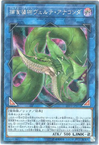[Secret] 捕食植物ヴェルテ・アナコンダ (8_L/闇2/LVP3-JP071)