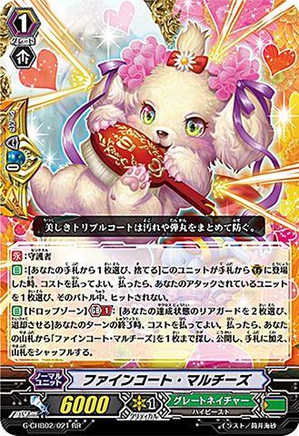 ファインコート・マルチーズ RR GCHB02/021(グレートネイチャー)