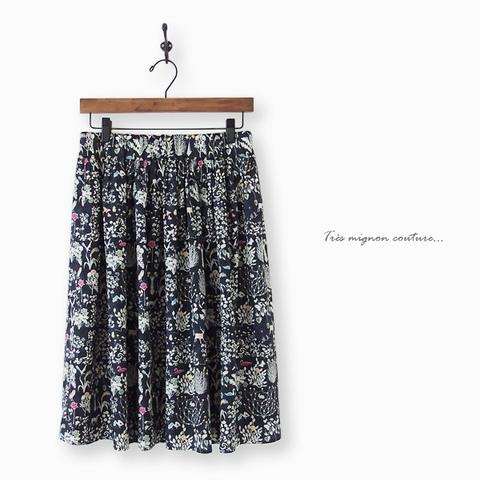 リバティYoshie ギャザースカート
