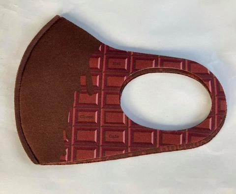 ホットチョコマスク・チョコ板柄