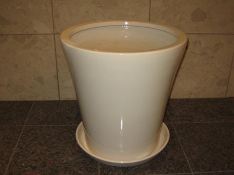 hc-1001 陶器(白)【適用鉢サイズ:10号】