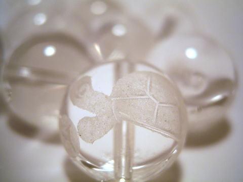 (寄付40円)銭亀水晶(銭乗りタイプ) 3個セット