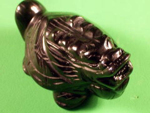 (寄付796円)黒曜石龍亀彫刻