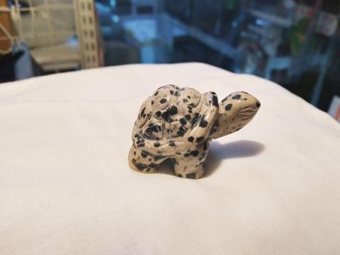 (寄付10円)ダルメシアンジャスパー彫刻亀