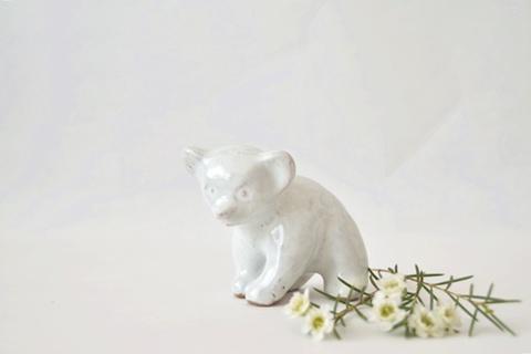 陶器の白くま