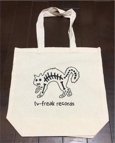 TV-FREAK エコバッグ 骨猫
