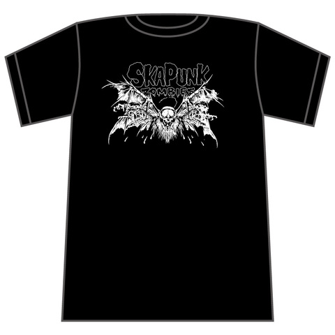 Ska Punk Zombies T-sh Bat White ver.