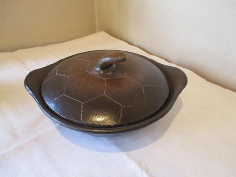 鍋 亀の甲羅 f19-12-1