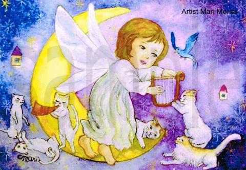 【ポストカード】月の妖精と煌めくハーモニー