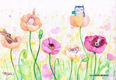 【ポストカード】花のこもりうた