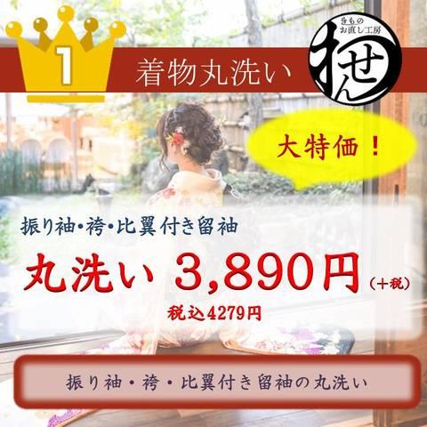 比翼付留袖・振袖・袴専用丸洗い/特価