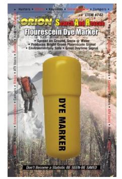 Fluorescein Dye Marker 救難信号・蛍光着色マーカー