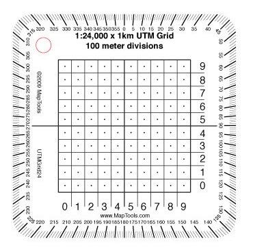 1:24,000 Scale Pocket Size UTM Grid