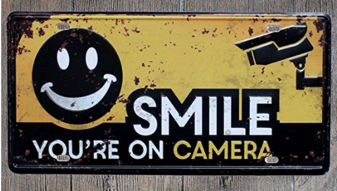 Smile You're on Camera Video Surveillance 防犯カメラ 警告表示