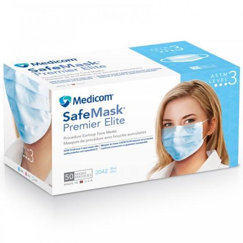 ASTM-2100 レベル3高性能マスク「メディコム セーフマスクプレミアエリート」50枚入り
