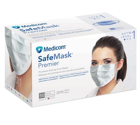 ASTM-2100 レベル1マスク「メディコム セーフマスクプレミア」50枚入り