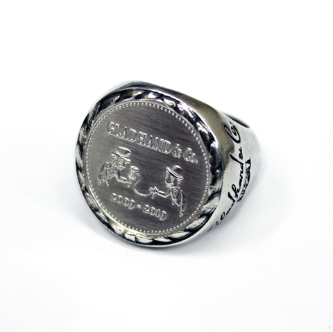 glad hand 10th ANNIVERSARY MEDAL RING ALL SILVER