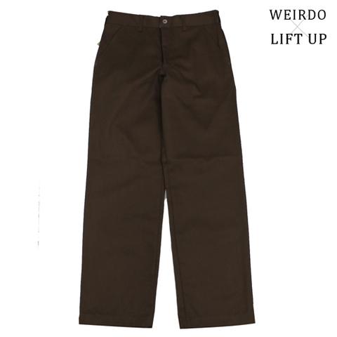 """weirdo LIFT UP  W&L WORK Pants 65polye """"BROWN"""""""