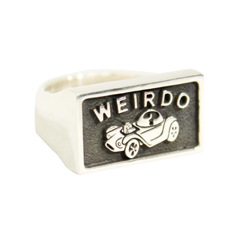 weirdo WJ002 PLAQUE RING 925SILVER 8-10