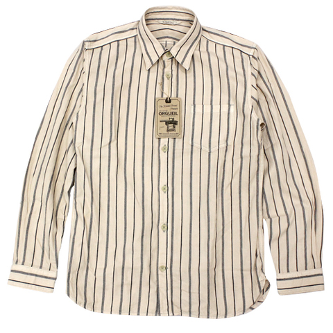 orgueil 5055B Stripe Work Shirts