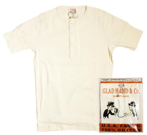 GLAD HAND-23 DROP STITCH HENRY S/S Tee WHT