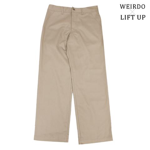 "weirdo LIFT UP  W&L WORK Pants 65poly ""BEIGE"""