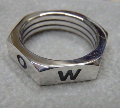 weirdo jewelry WR002 NUT-RING SILVER