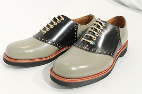GLAD HAND×REGAL SADDLE SHOES GRY/BLK