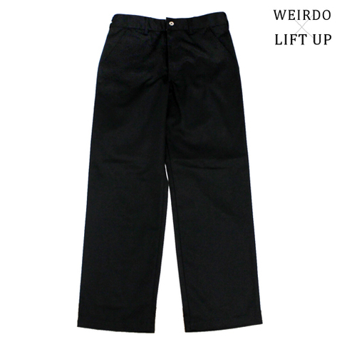 "weirdo LIFT UP  W&L WORK Pants 65poly ""BLACK"""