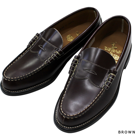 REGAL × GLAD HAND COIN LOAFERS-SHOES BROWN