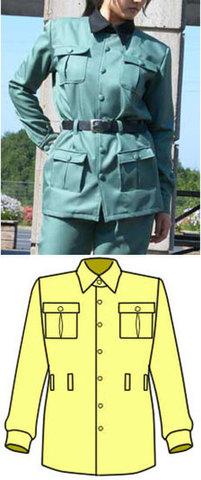ワークシャツの型紙 婦人L