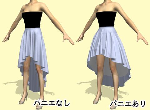 ロングテールスカートの型紙