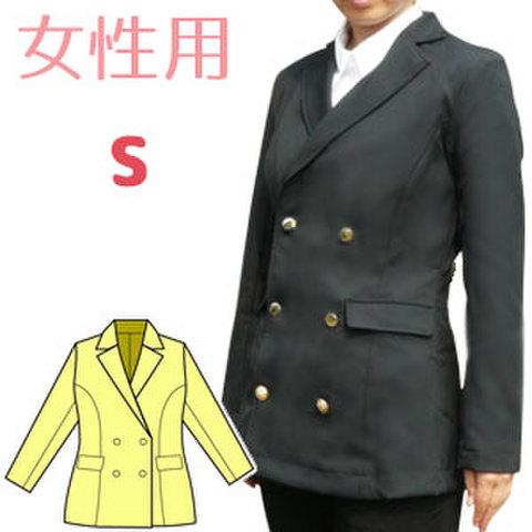 Wボタンのテーラードジャケットフェミニンタイプの型紙 婦人Sサイズ