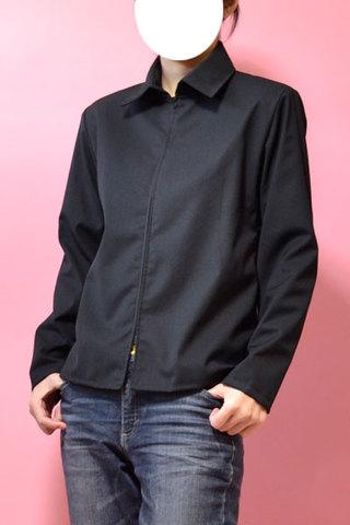 シャツカラーつきジャケットの型紙婦人S