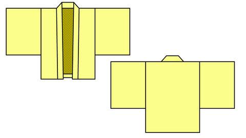 子供用羽織風型紙 130/140サイズ